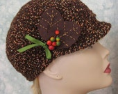 Newsboy Crochet Hat Pattern Teen And  Womens Sizing Easy To Make May Sell Finished Hats  Instant Download