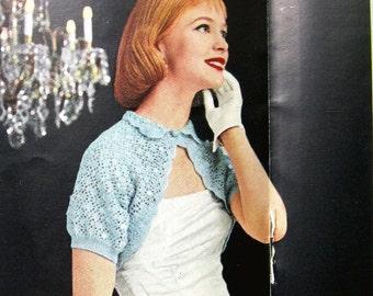 Vintage Crochet Shrug Pattern Vintage 1950s Evening Capelet Instant Download Sml Med Lrg