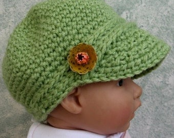 Newsboy Hat Crochet Pattern Infant- Toddler Instant Download Easy To Make
