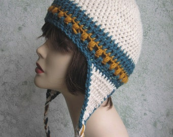 Womens Crochet Hat Pattern With Earflaps Instant Download Easy To Make May Sell Finished  Hats