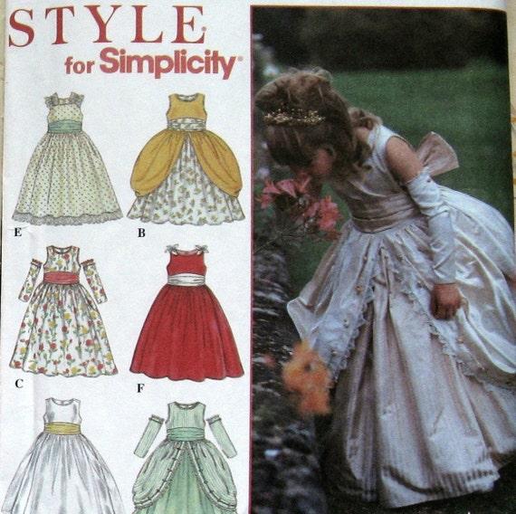 Sewing Pattern Little Girls Cute Princess Flower Girl Dress