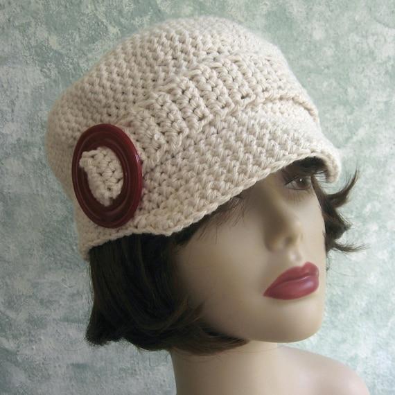 Crochet Newsboy Hat Pattern Womens And Teen Sizing Cotton Crochet Hat ...