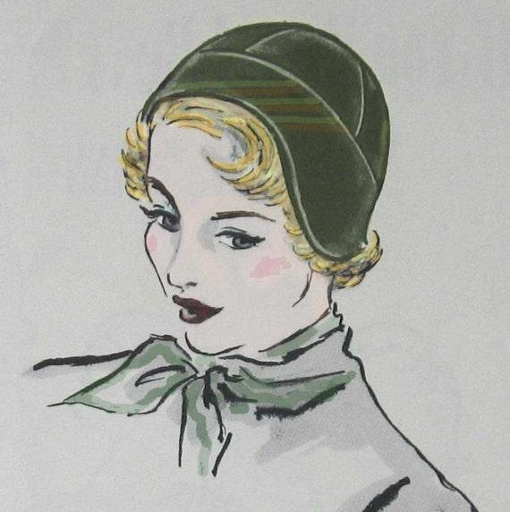 PDF Flapper Hat Helmet Pattern Vtg 1930s Easy To Make PDF Resell Finished