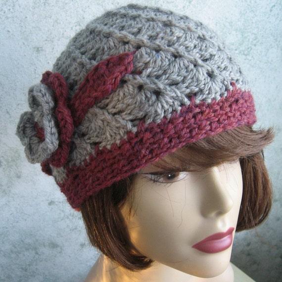 Crochet Hat Pattern Spiral Rib : Womens Crochet Hat Pattern Spiral Rib With Double Flower ...