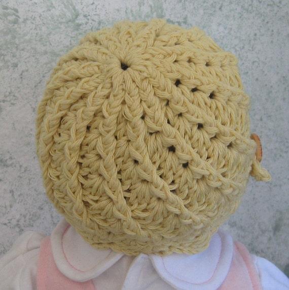 Crochet Hat Pattern Infant-Toddler Spiral Ribbed Hat Instant