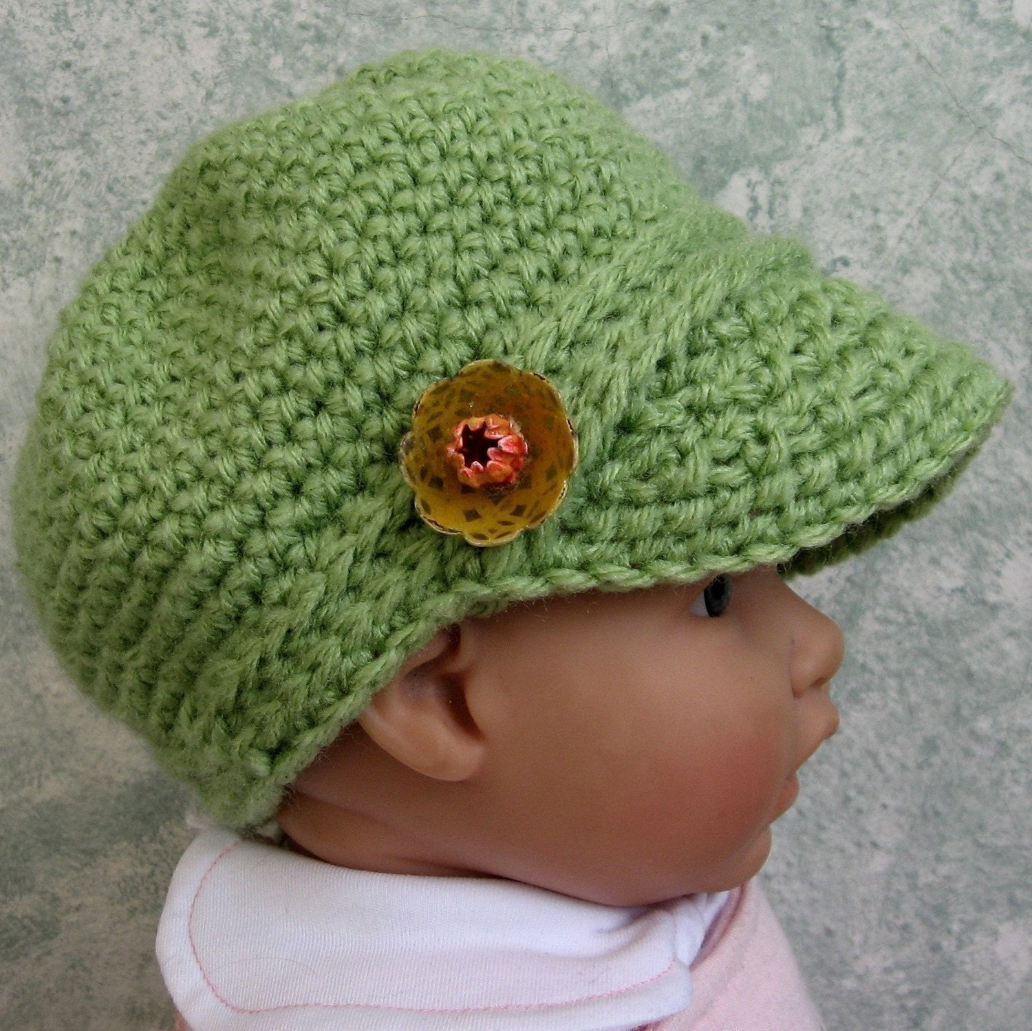 Crochet Patterns Infant Hats : Newsboy Hat Crochet Pattern Infant Toddler by kalliedesigns