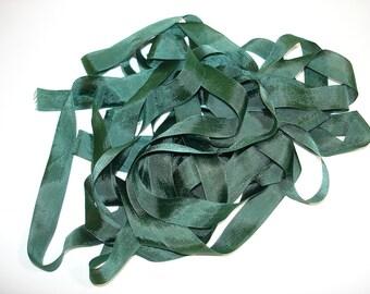 Vintage Seam Binding- Jungle Green
