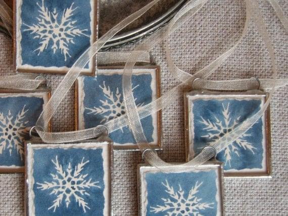 watercolor ornaments - set of six