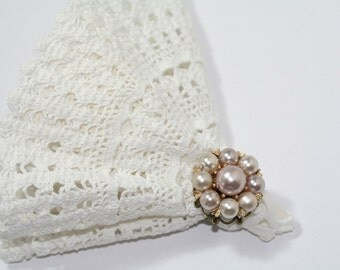Vintage Ring Recycled Vintage Jewelry Champagne Bridesmaid or Bridal Ring