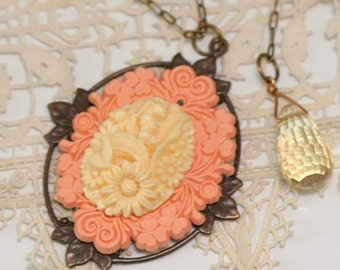 Victorian Style Pendant Cameo Layering Necklace