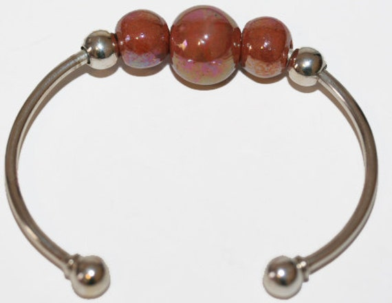 Solid Sterling Bangle Removable Beads