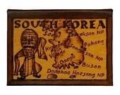 SOUTH KOREA - Leather Travel Journal / Sketchbook - Handmade