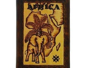 AFRICA - Leather Travel Photo Album - Handcrafted