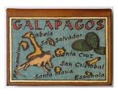 GALAPAGOS - Leather Travel Journal / Sketchbook - Handmade