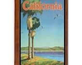 CALIFORNIA 17- Handmade Leather Journal / Sketchbook - Travel Art