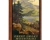GREAT SMOKY MOUNTAINS 1- Handmade Leather Photo Album - Travel Art