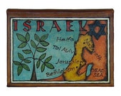ISRAEL - Leather Travel Photo Album - Handmade