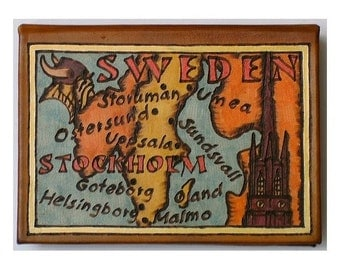 SWEDEN - Leather Travel Photo Album - Handmade