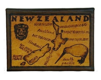 NEW ZEALAND - Leather Travel Photo Album - Handcrafted