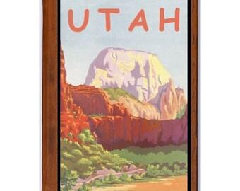 UTAH 2- Handmade Leather Journal / Sketchbook - Travel Art
