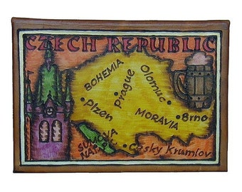 CZECH REP. - Leather Travel Photo Album - Handmade