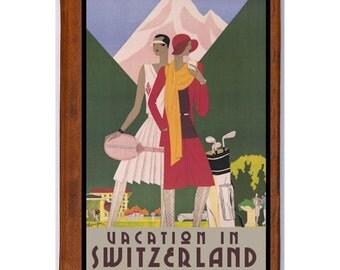SWITZERLAND 7- Handmade Leather Journal / Sketchbook - Travel Art