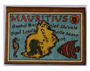 MAURITIUS - Leather Travel Photo Album - Handmade