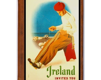 IRELAND 1- Handmade Leather Photo Album - Travel Art