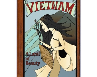 VIETNAM 1- Handmade Leather Photo Album - Travel Art