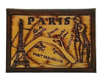 PARIS - Leather Travel Journal / Sketchbook - Handcrafted