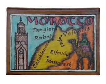 MOROCCO - Leather Travel Journal / Sketchbook - Handmade