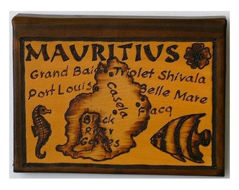 MAURITIUS - Leather Travel Journal / Sketchbook - Handcrafted