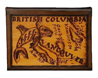 BRITISH COLUMBIA - Leather Travel Journal / Sketchbook - Handcrafted