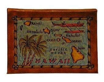 HAWAII - Leather Travel Journal / Sketchbook - Handmade