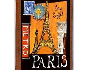 PARIS 5- Handmade Leather Photo Album - Travel Art