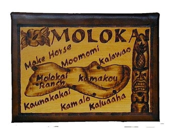 MOLOKAI - Leather Travel Journal / Sketchbook - Handcrafted