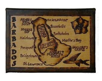 BARBADOS - Leather Travel Journal / Sketchbook - Handcrafted