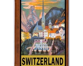 SWITZERLAND 6- Handmade Leather Photo Album - Travel Art
