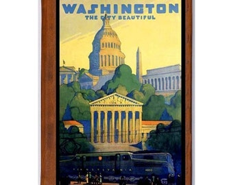 WASHINGTON DC 1 - Handmade Leather Photo Album - Travel Art