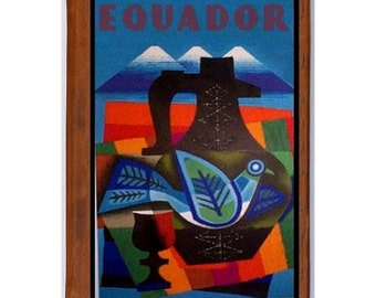 ECUADOR 1- Handmade Leather Photo Album - Travel Art