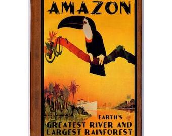 AMAZON 1- Handmade Leather Journal / Sketchbook - Travel Art