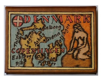 DENMARK - Leather Travel Photo Album - Handmade