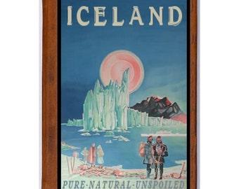 ICELAND 1- Handmade Leather Journal / Sketchbook - Travel Art