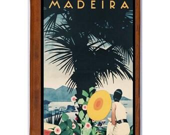 MADEIRA 1- Handmade Leather Journal / Sketchbook - Travel Art