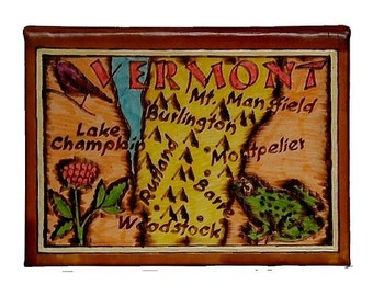 VERMONT - Leather Travel Journal / Sketchbook - Handmade