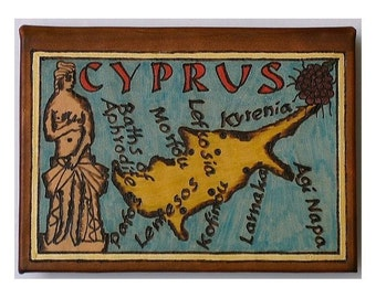 CYPRUS - Leather Travel Photo Album - Handmade