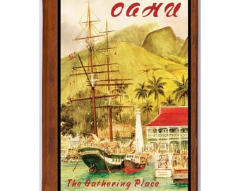 OAHU 2- Handmade Leather Photo Album - Travel Art