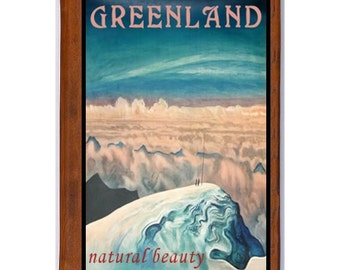 GREENLAND 1- Handmade Leather Journal / Sketchbook - Travel Art