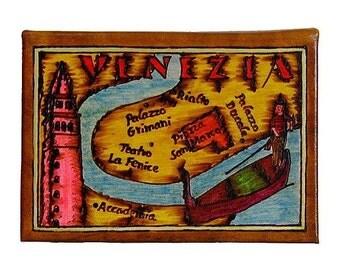 VENICE - Leather Travel Photo Album - Handmade