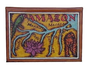 AMAZON - Leather Travel Scrapbook / Journal - Handmade
